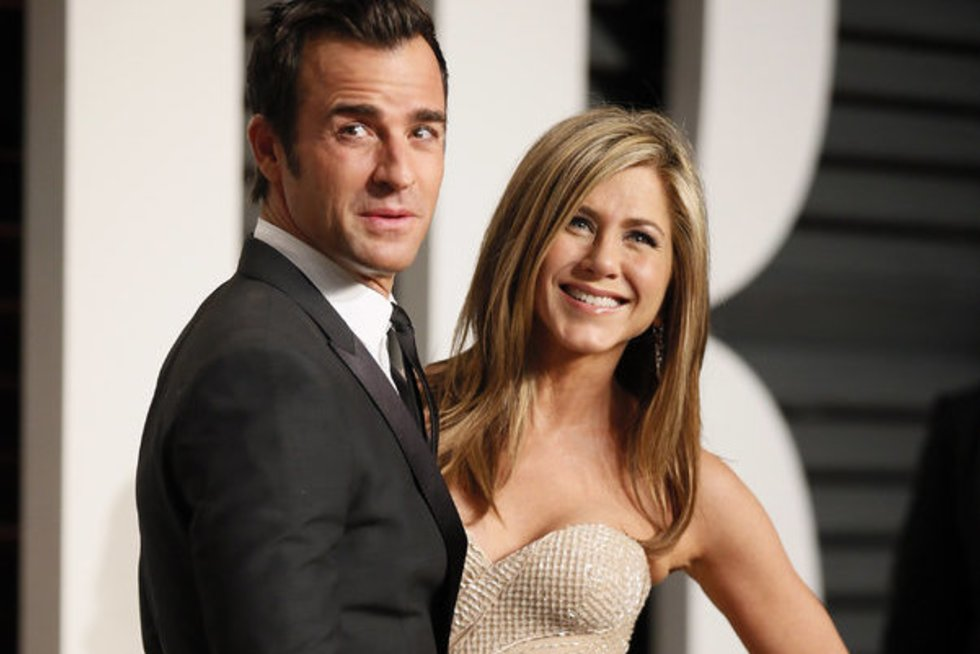 Justinas Therouxas ir Jennifer Aniston (nuotr. SCANPIX)