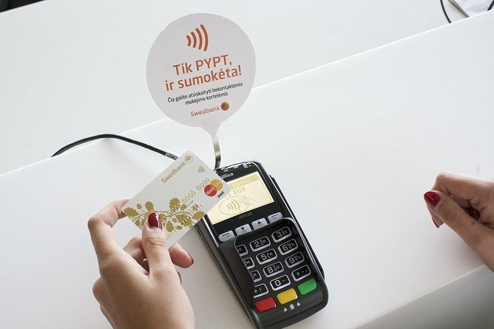 Bekontaktė mokėjimo kortelė (nuotr. Organizatorių)