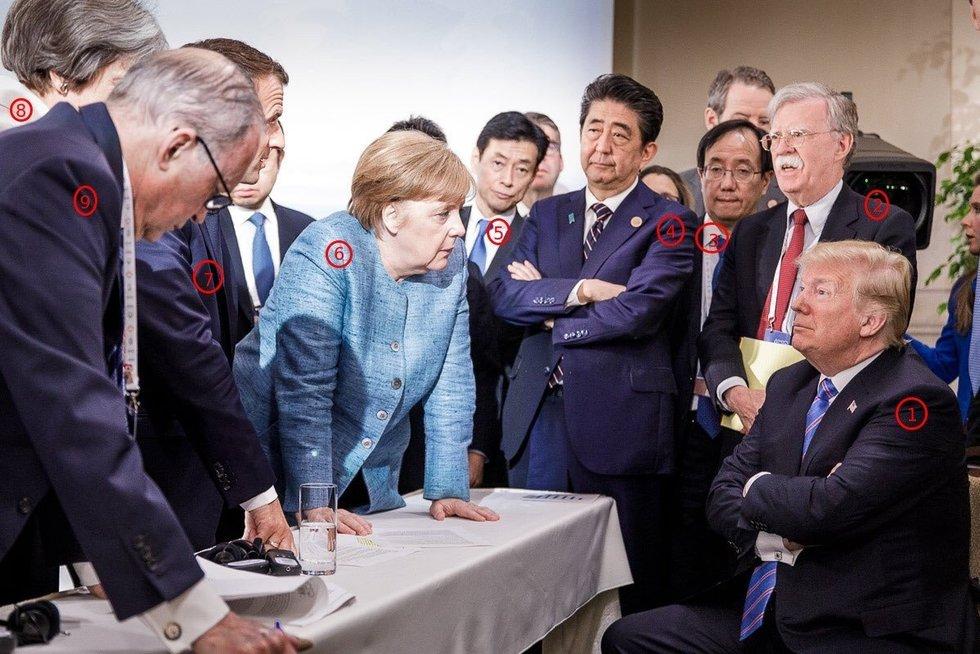 G7 šalių vadovų susitikimas Kvebeke (nuotr. SCANPIX)
