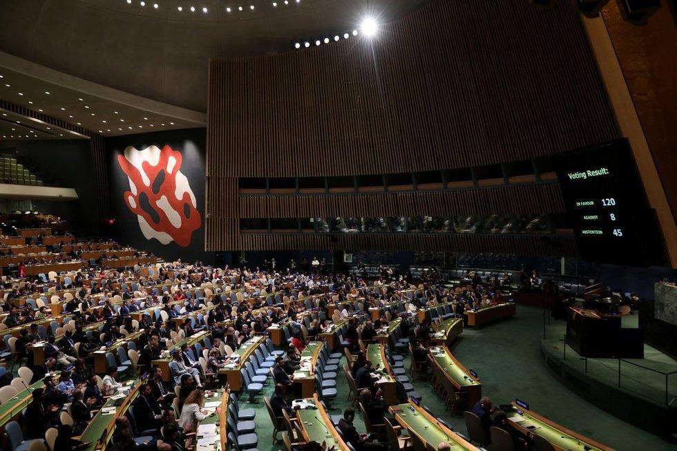 Jungtinių Tautų Generalinė Asamblėja (nuotr. SCANPIX)