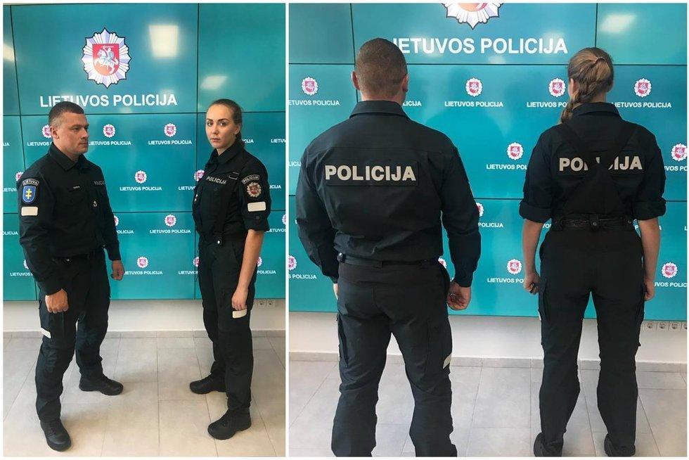 Naujosios policijos uniformos (nuotr. Policijos departamento)
