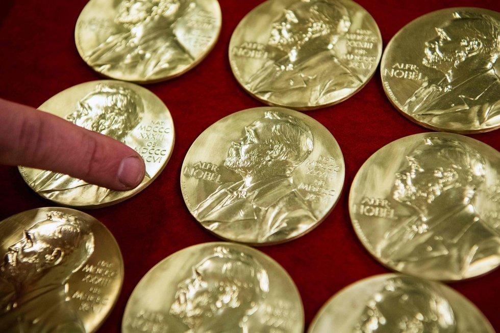 Nobelio premijos medalis (nuotr. SCANPIX)
