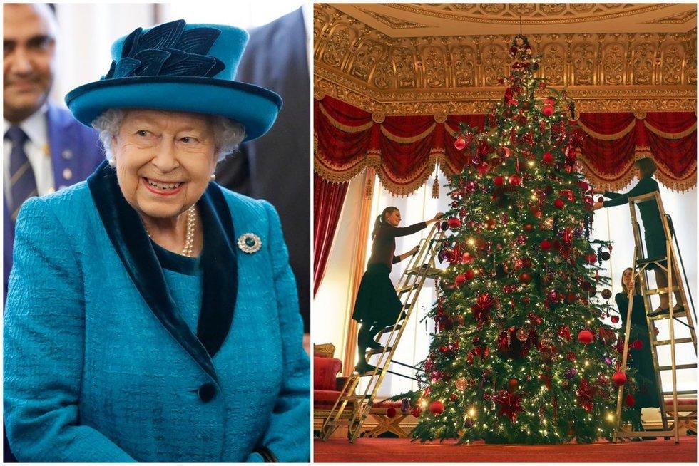 Karalienės eglė Windsor pilyje (nuotr. SCANPIX) tv3.lt fotomontažas