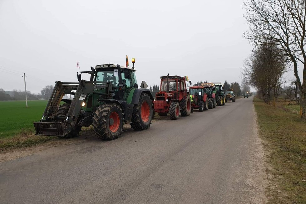 Ūkininkų protestas (nuotr. skaitytojo)