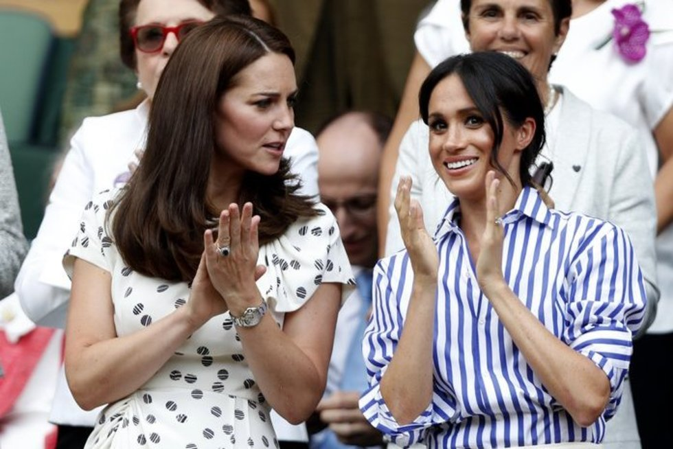 Kate Middleton ir Meghan Markle (nuotr. SCANPIX)