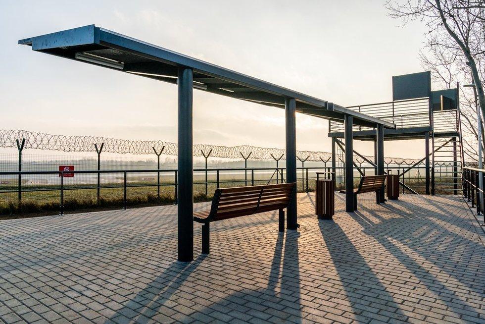 Lėktuvų stebėjimo aikštelė Vilniaus oro uoste (nuotr. organizatoriaus)