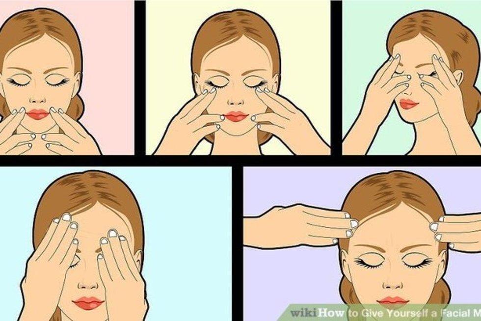 Veido masažas įtampai mažinti