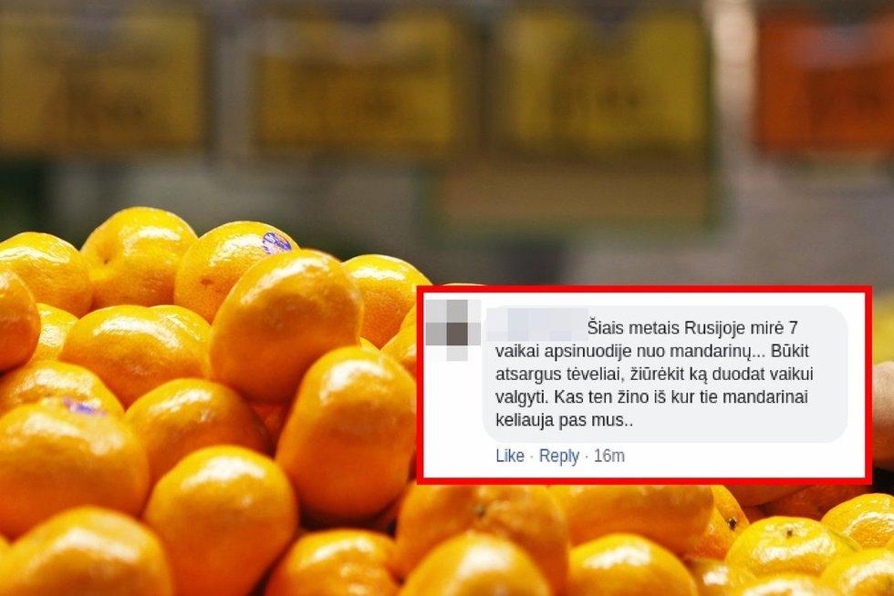 Skleidžiama panika feisbuke: tėvai gąsdinami nuo mandarinų mirusiais vaikais (nuotr. SCANPIX) tv3.lt fotomontažas