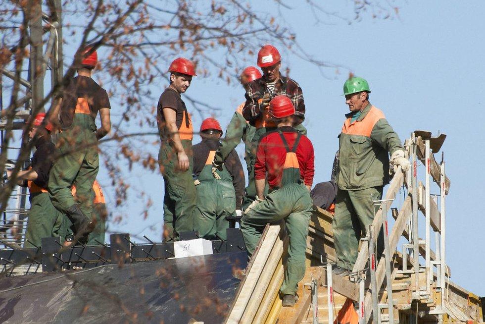 Statybininkai (nuotr. Fotodiena.lt)