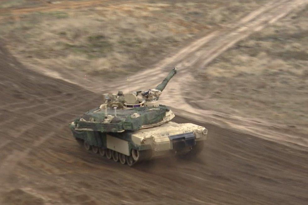 JAV kariuomenė Pabradėje (nuotr. stop kadras)