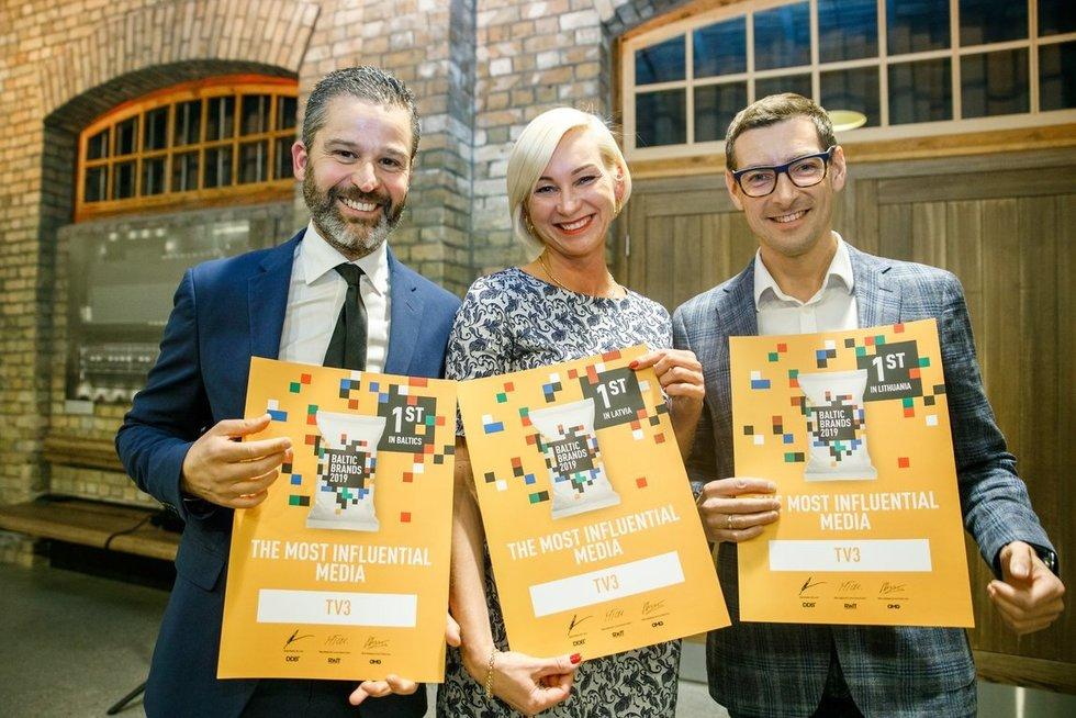 """rinkodaros ir reklamos profesionalų forumo """"Baltic Brand Forum 2019"""" prekės ženklų apdovanojimų akimirkos, Photo Agency F64, D. Suļžics nuotr."""