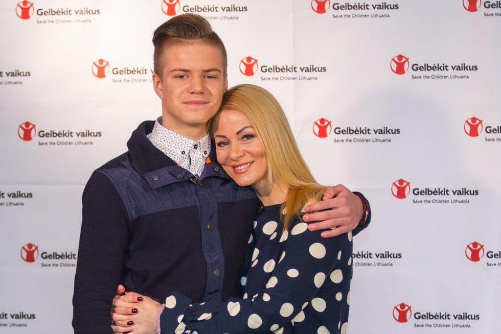 Vaida Genytė-Marazienė su sūnumi (nuotr. Organizatorių)