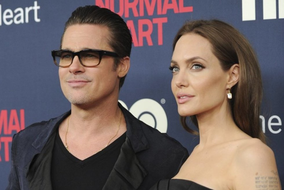 Bradas Pittas ir Angelina Jolie (nuotr. SCANPIX)