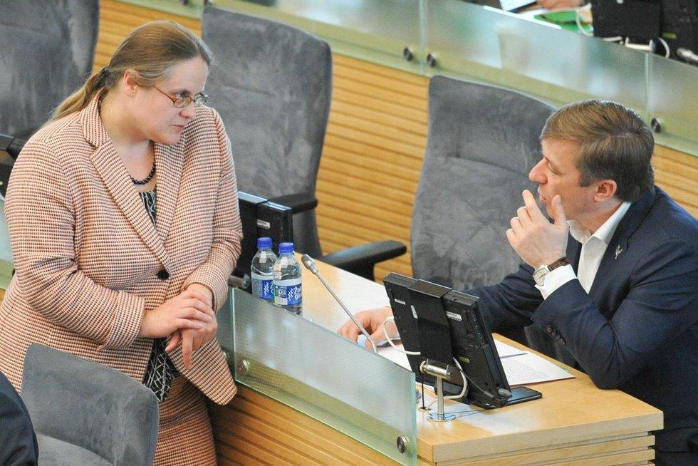 Agnė Širinskienė. Ramūnas Karbauskis (nuotr. Fotodiena.lt)