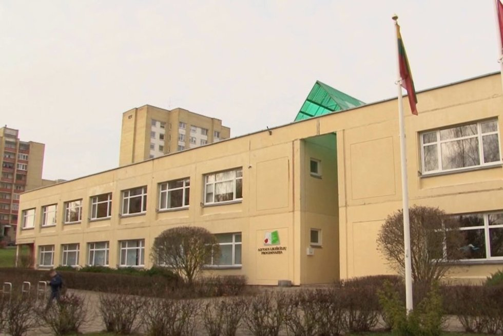 Alytaus mokykla (nuotr. stop kadras)