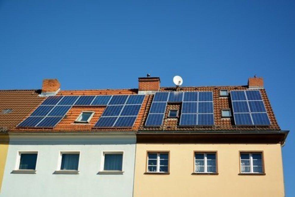 Saulės kolektoriai (nuotr. Fotolia.com)