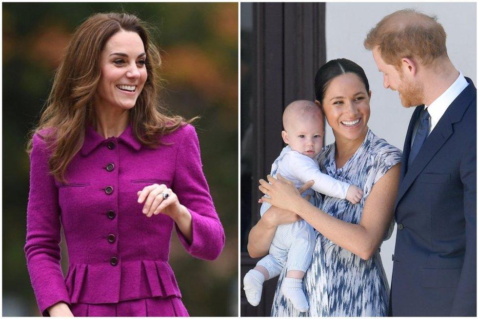 Kate Middleton, Meghan Markle ir princas Harry su sūnumi Archie (tv3.lt fotomontažas)