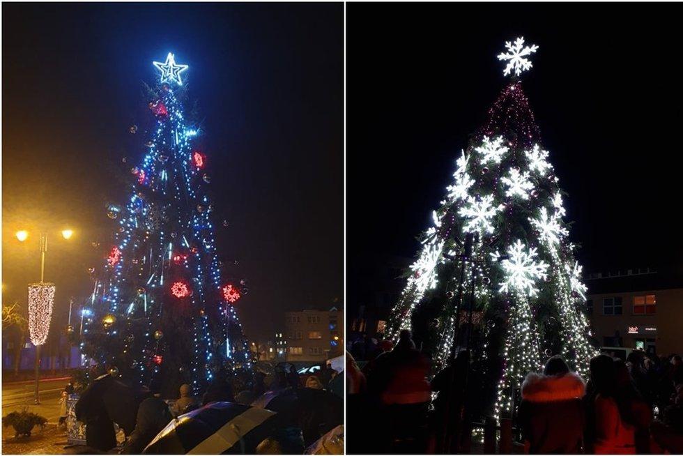 Lietuvoje tęsiasi kalėdinių eglių įžiebimai (tv3.lt fotomontažas)