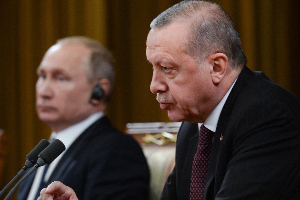 V. Putinas ir R. Erdoganas (nuotr. SCANPIX)