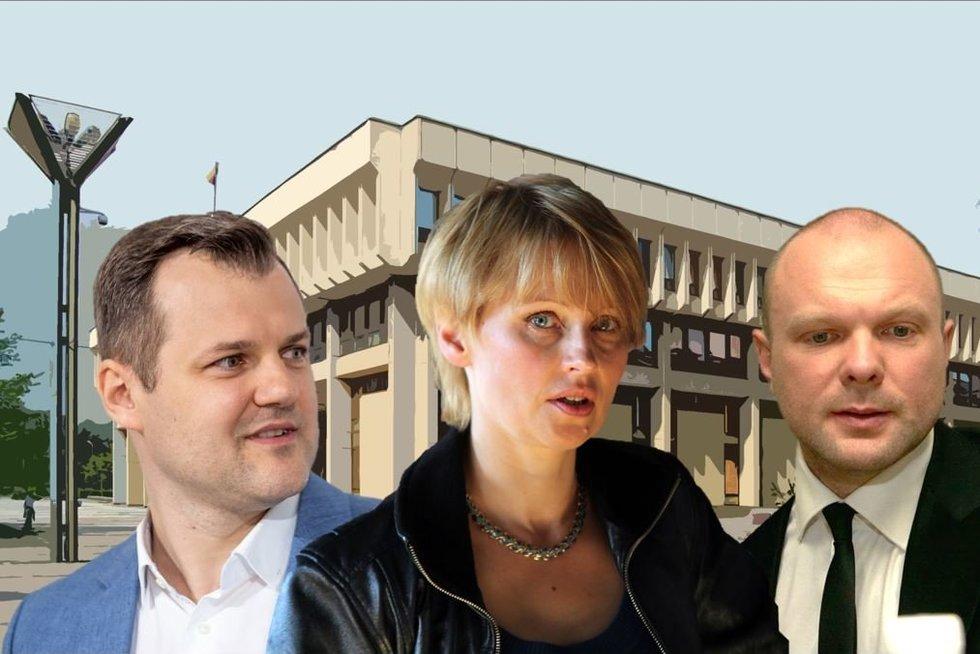 Gintautas Paluckas. Rūta Janutienė. Kristupas Krivickas (nuotr. tv3.lt)