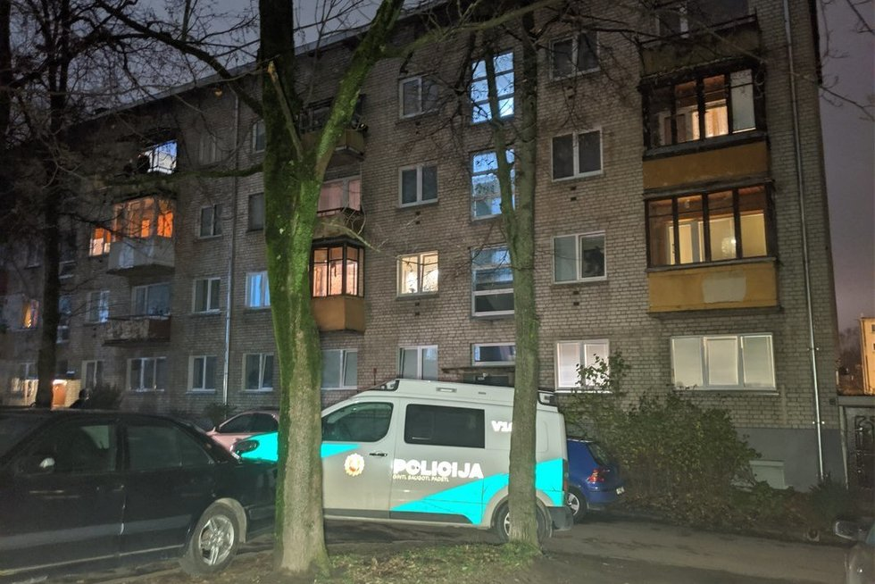 Vilniuje bute aptiktas subadytas 70-metis vyras (nuotr. Broniaus Jablonsko)