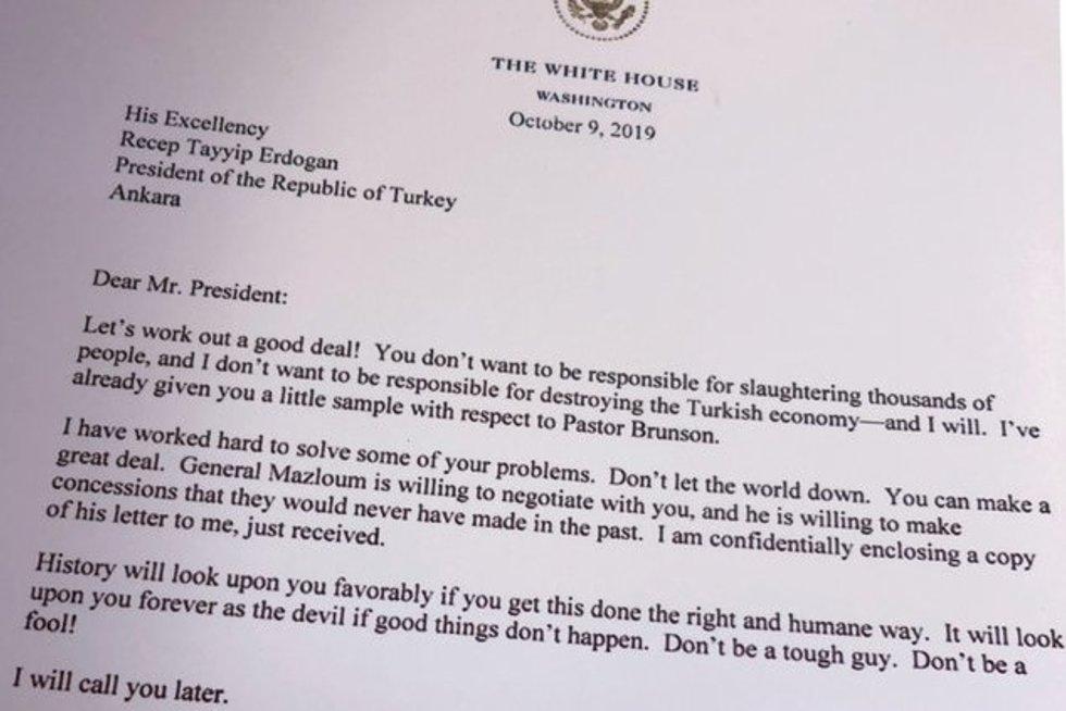 JAV laiškas Turkijai (nuotr. Scanpix)