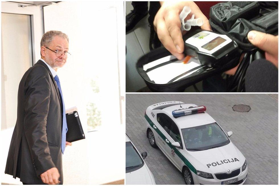 Įtarimų dėl girtumo sulaukusiam Seimo nariui L. Balsiui norėta kviesti policiją (TV3 koliažas)