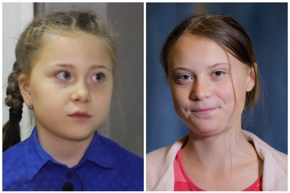 Rusai surado Gretos Thunberg antrininkę: norėčiau tapti manikiūrininke, nes gerai moka (nuotr. SCANPIX) tv3.lt fotomontažas