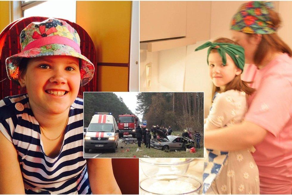 Jankauskai per avariją neteko tuomet vienintelės savo dukters, dešimtmetės Kotrynos (tv3.lt fotomontažas)