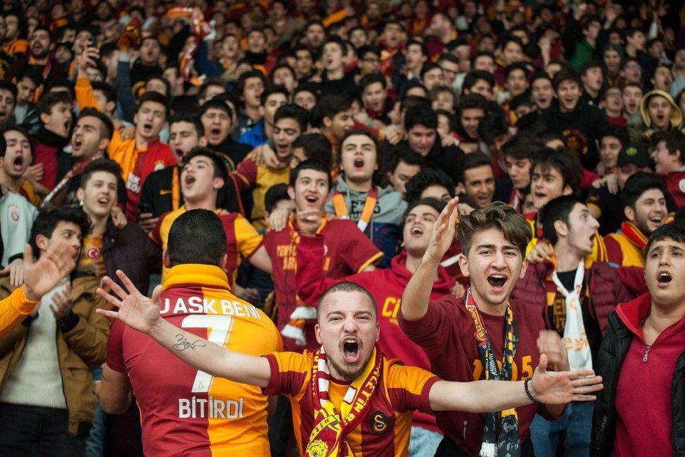 """""""Galatasaray"""" fanai (nuotr. Fotodiena/Žygimanto Gedvilos)"""