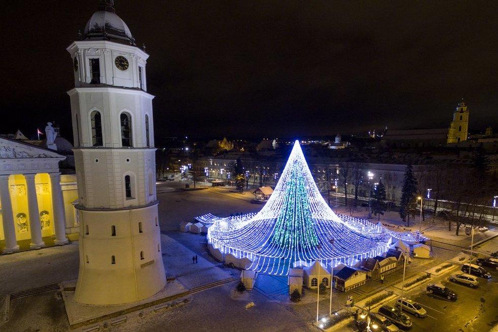Kalėdų eglė Vilniuje (nuotr. Broniaus Jablonsko)