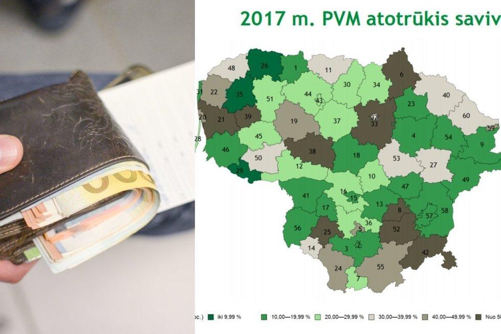 VMI duomenys apie PVM atotrūkį ( E. Žičkevičiūtės nuotr.)