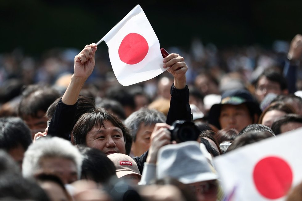 Japonijos vėliava (nuotr. Scanpix)
