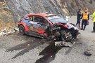 O. Tanako automobilis po avarijos (nuotr. Twitter)
