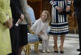 Per Švedijos karaliaus gimtadienį dėmesio centre atsidūrė keturmetė princesė
