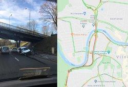 Avarija Vilniuje sukaustė eismą judrioje gatvėje: prašoma rinktis kitą maršrutą