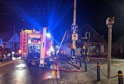 Ugniagesiai Vilniuje skubėjo į iškvietimą: Žvėryne užsidegė namas