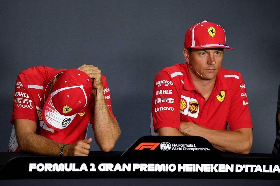 Sebastianas Vettelis ir Kimi Raikkonenas (nuotr. SCANPIX)