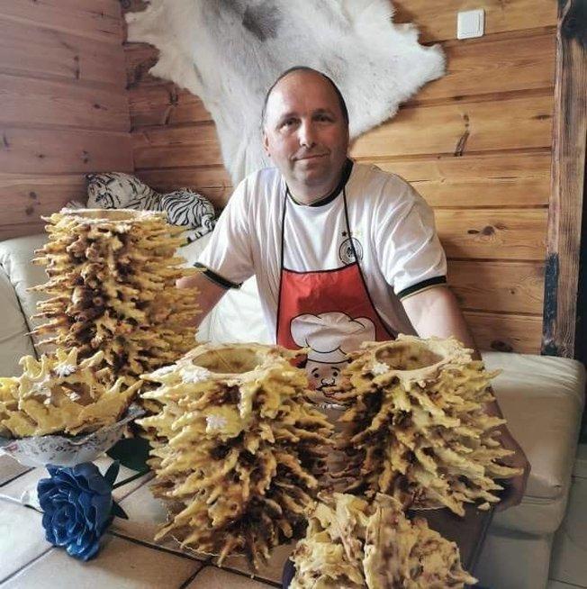 Artūro Čiurlionio namuose gaminami šakočiai