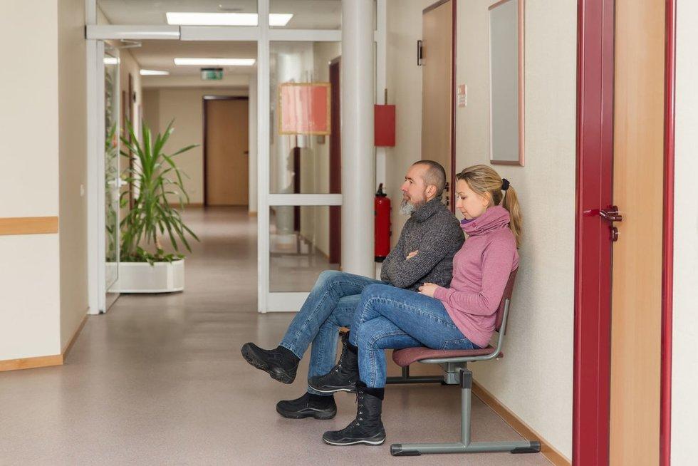 Laukia ligoninėje