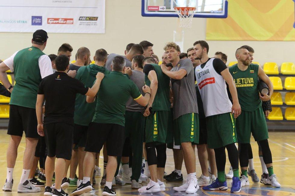 Krepšinio rinktinės treniruotė (nuotr. Tv3.lt/Ruslano Kondratjevo)