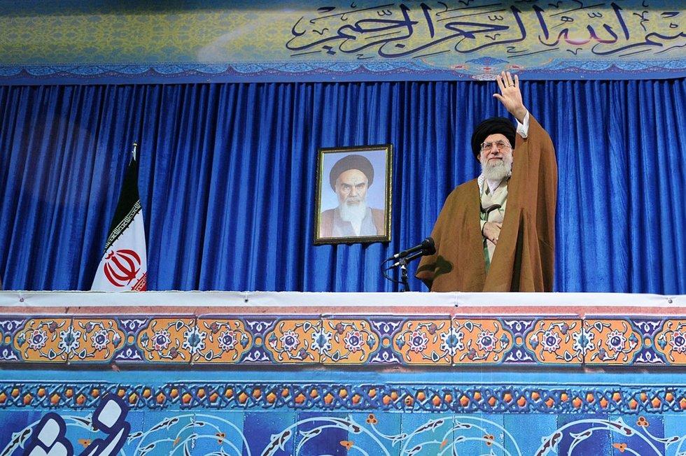 Irano aukščiausiasis lyderis ajatola Ali Khamenei