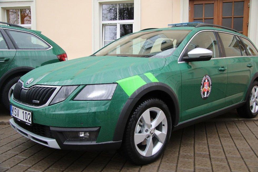 "VSAT perka ""Škoda"" automobilius (nuotr. VSAT)"