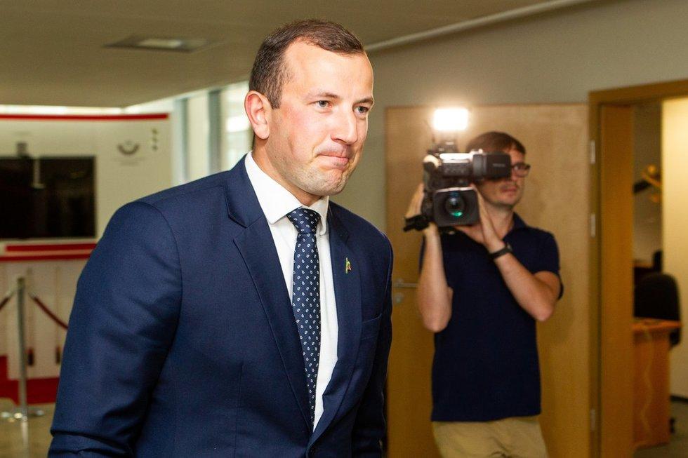 Sinkevičius žingsniu arčiau EK – gavo pirmą Seimo palaiminimą (nuotr. Paulius Peleckis/Fotobankas)