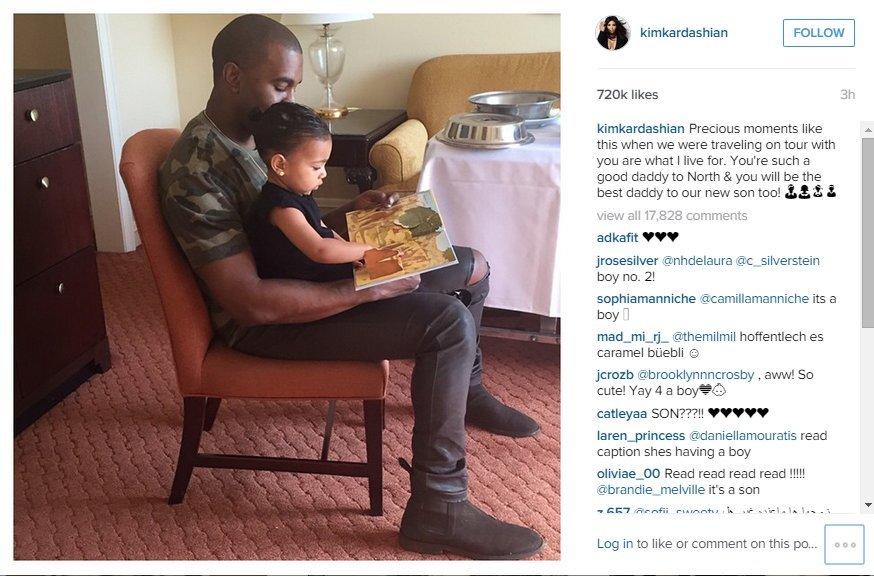 Kanye Westas su dukrele North (nuotr. Instagram)