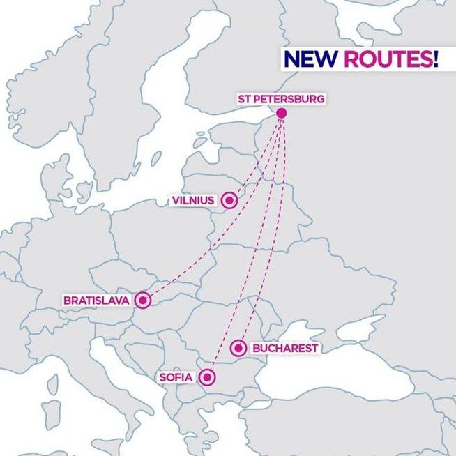 """""""Wizz Air"""" skraidins iš Vilniaus į Sankt Peterburgą"""