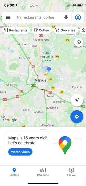 """""""Google Maps"""" atšventė savo gimtadienį: siūlo 15 naujų funkcijų"""