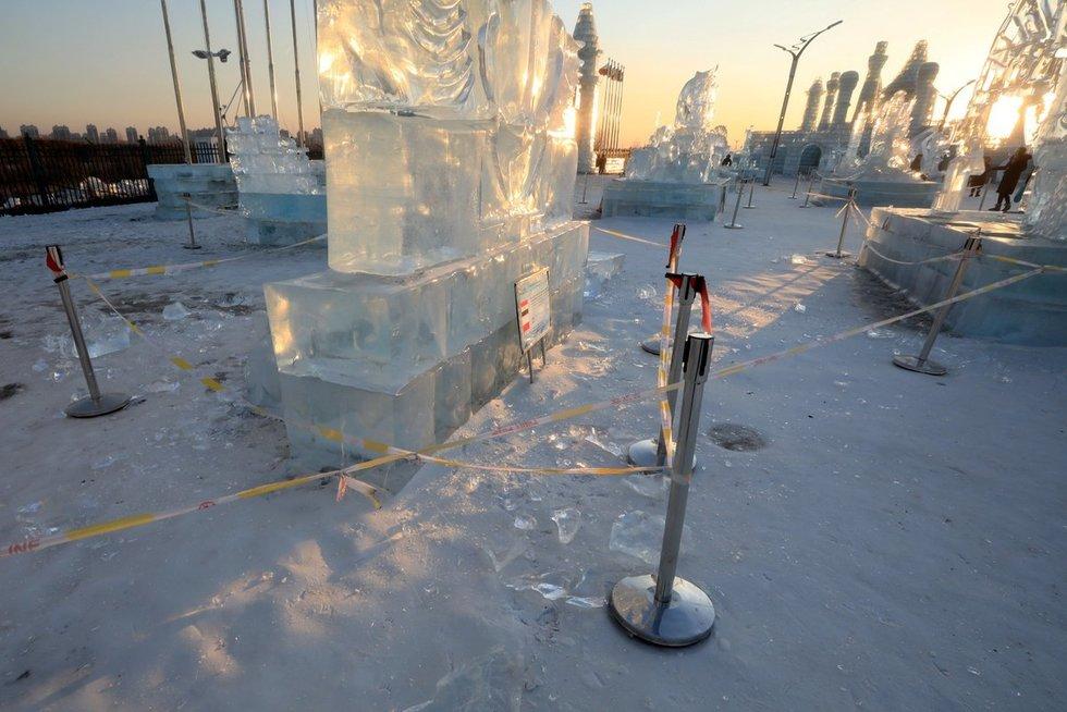 Ledo skulptūra (nuotr. SCANPIX)