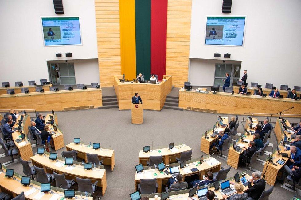 Seimas (nuotr. Fotodiena/Justino Auškelio)
