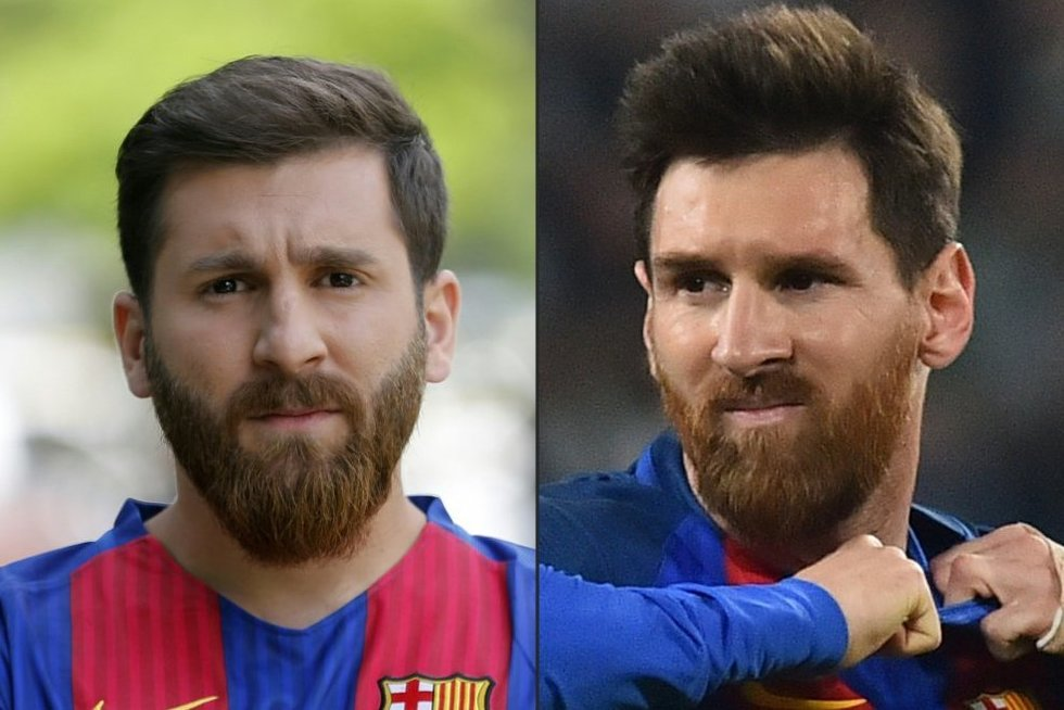 Reza Parasteshas ir Lionelis Messi (nuotr. SCANPIX)